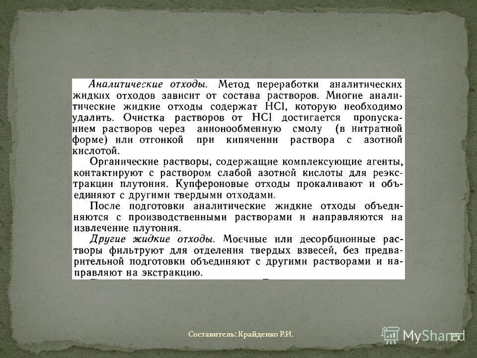Составитель: Крайденко Р.И. 75