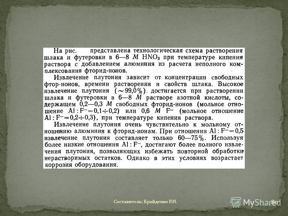 Составитель: Крайденко Р.И. 80