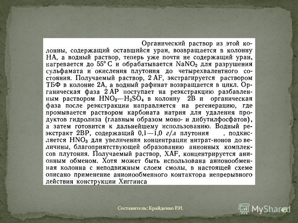 Составитель: Крайденко Р.И. 45