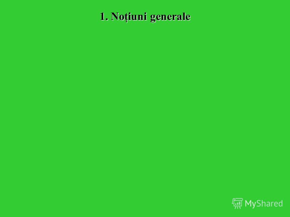 1. Noţiuni generale