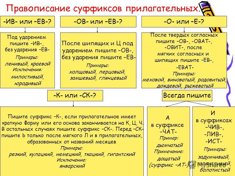 Тест в 10 классе правопиисание суффиксов существительных