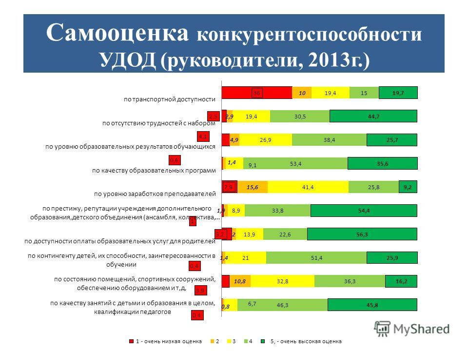 Самооценка конкурентоспособности УДОД (руководители, 2013г.)