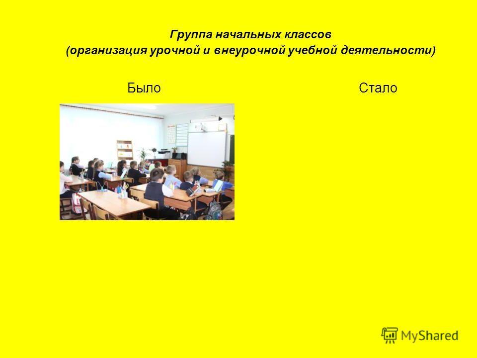 Группа начальных классов (организация урочной и внеурочной учебной деятельности) Было Стало