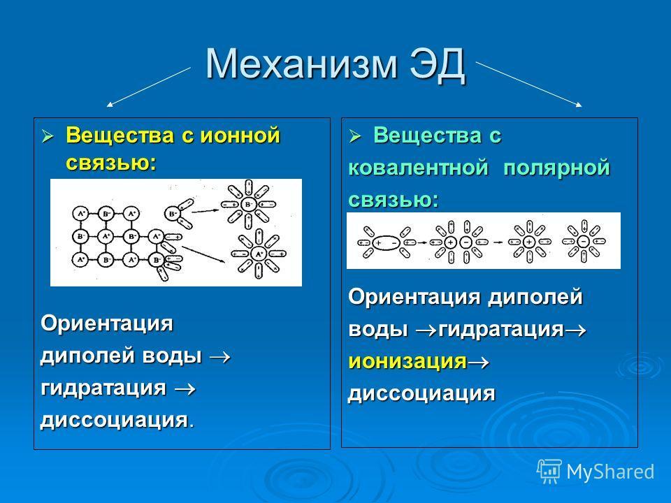 «Механизм электролитической диссоциации»
