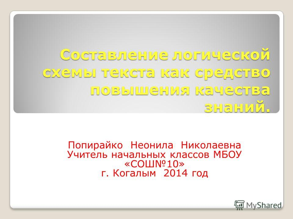 Схема связи предложений в тексте