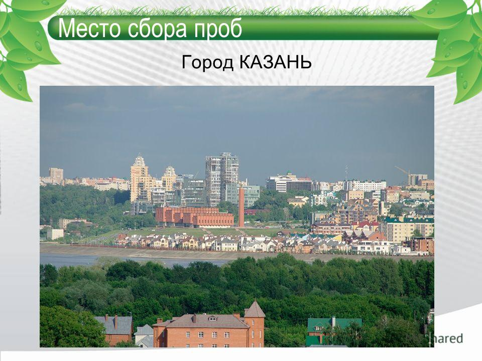 Место сбора проб Город КАЗАНЬ
