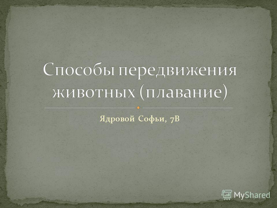 Ядровой Софьи, 7В
