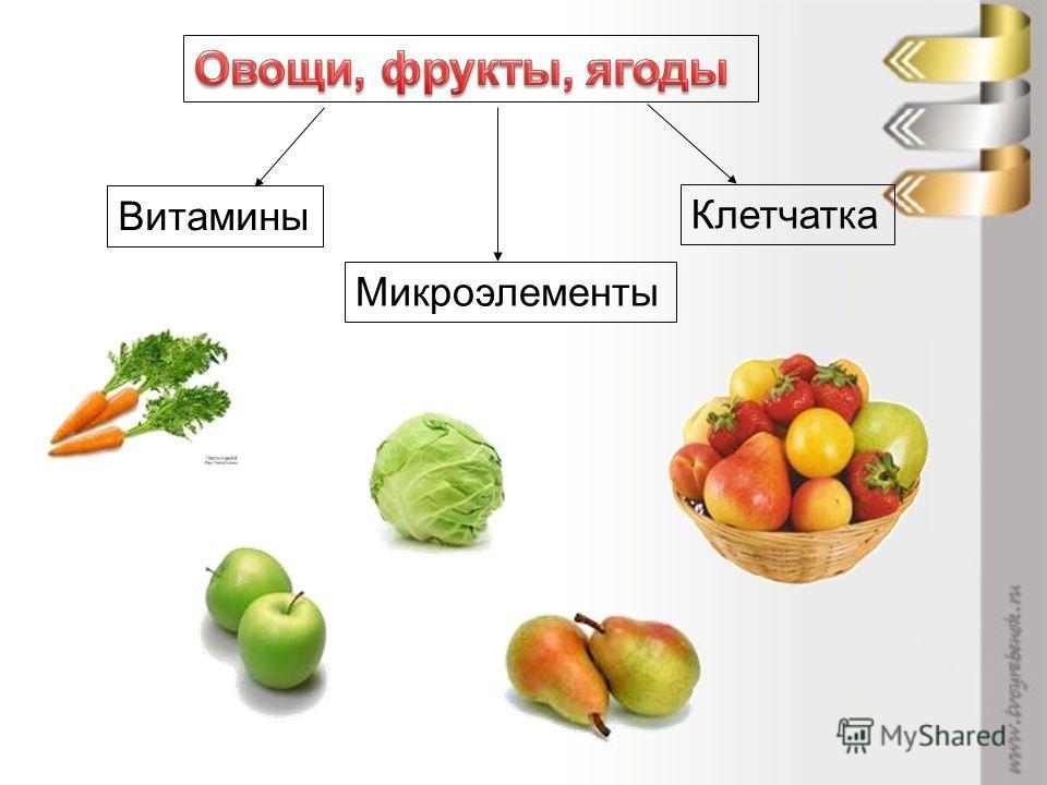 Витамины Микроэлементы Клетчатка