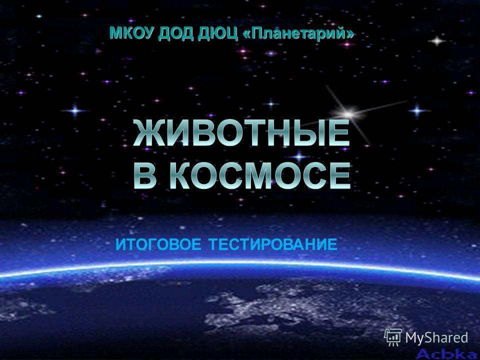 МКОУ ДОД ДЮЦ «Планетарий» ИТОГОВОЕ ТЕСТИРОВАНИЕ