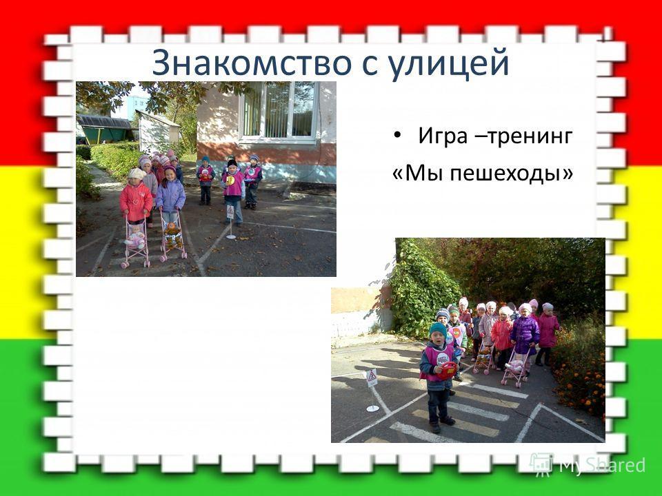 Знакомство с улицей Игра –тренинг «Мы пешеходы»