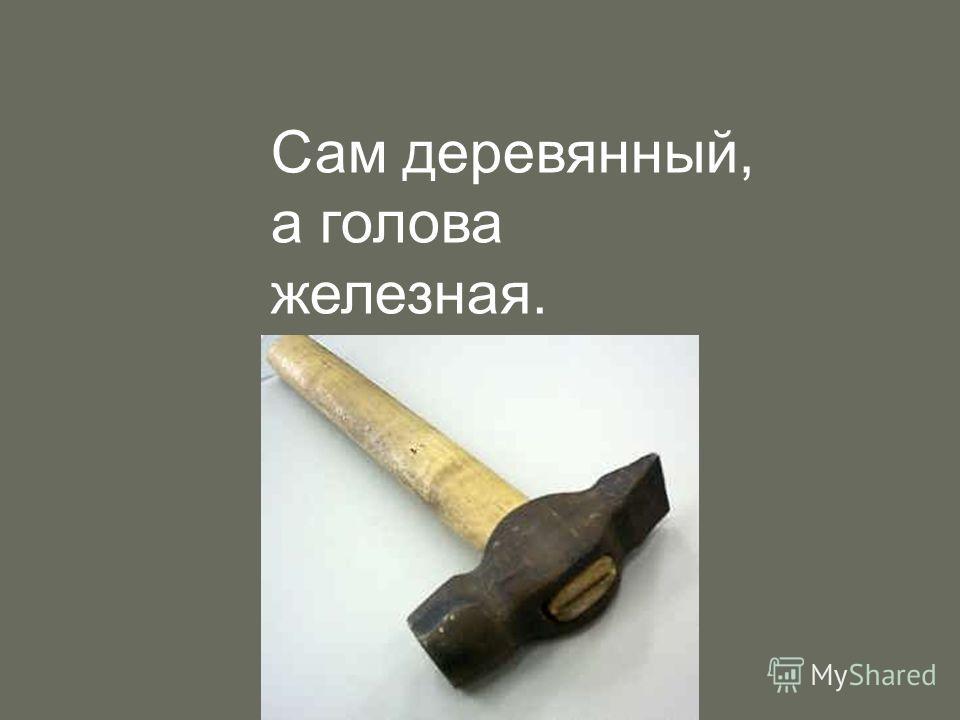 Сам деревянный, а голова железная.