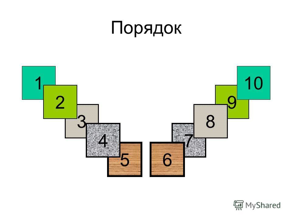 Порядок 9 10 7 8 6 1 3 5 4 2