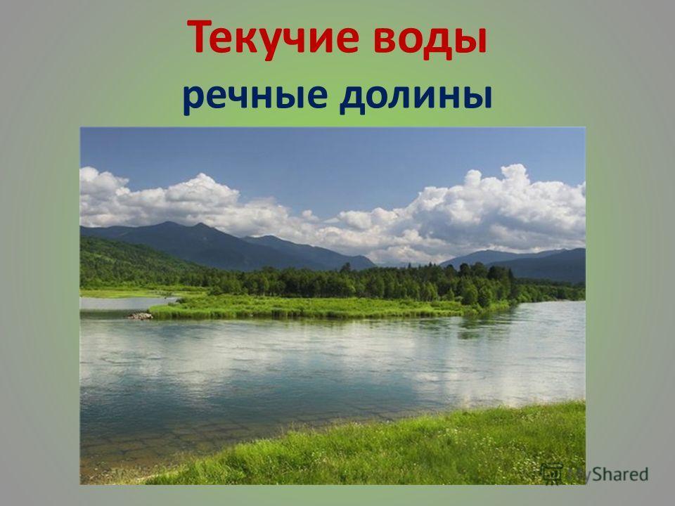 Текучие воды речные долины