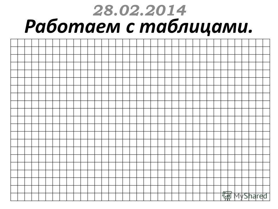 Работаем с таблицами. 28.02.2014
