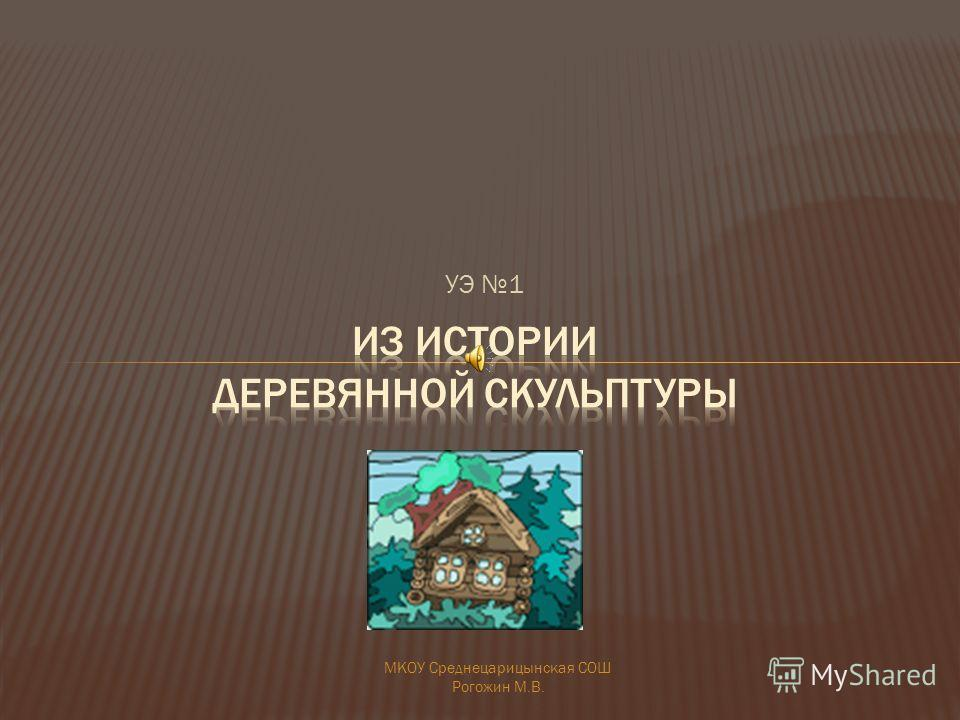 УЭ 1 МКОУ Среднецарицынская СОШ Рогожин М.В.