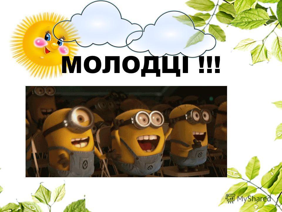 МОЛОДЦІ !!!