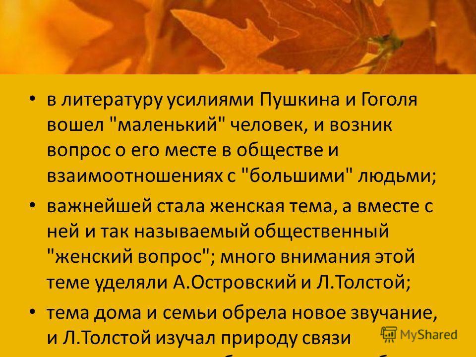 в литературу усилиями Пушкина и Гоголя вошел