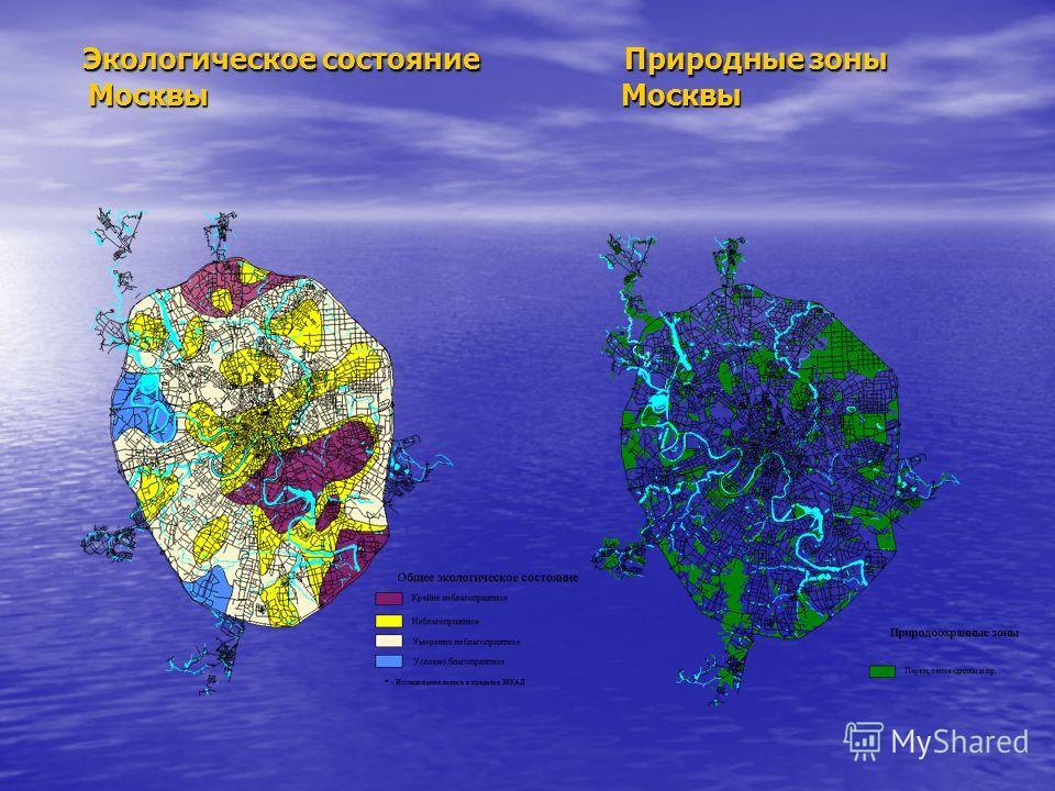 Экологическое состояние Природные зоны Москвы Москвы Экологическое состояние Природные зоны Москвы Москвы