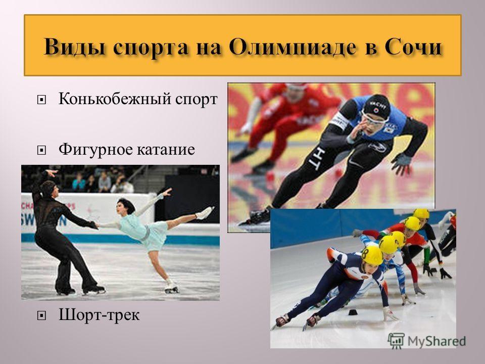 Конькобежный спорт Фигурное катание Шорт - трек