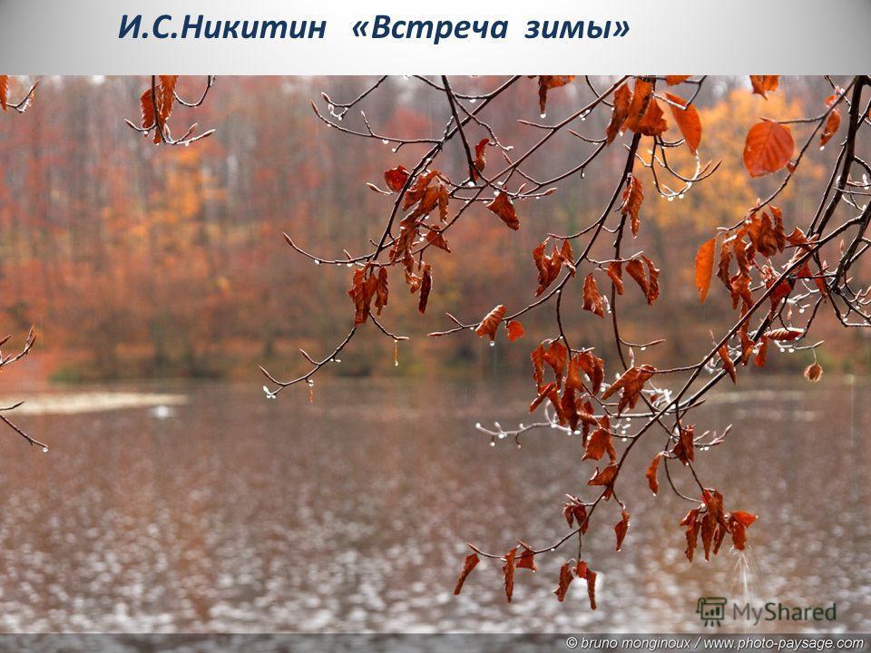 И.С.Никитин «Встреча зимы»