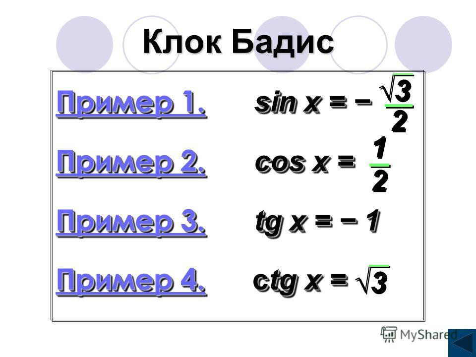 Функция у = ctg x 1. Областью определения функции является множество (πn; π + πn) 2. Областью значений R 3. Функция у = ctg x нечетная, т.к. ctg (- α) = - ctg α 4. Функция периодическая, с главным периодом π. ctgt = а, аЄR t = arcctg а + πk kЄZ