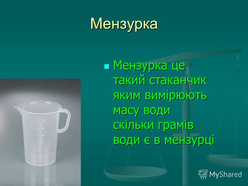 Мензурка Мензурка це такий стаканчик яким вимірюють масу води скільки грамів води є в мензурці Мензурка це такий стаканчик яким вимірюють масу води скільки грамів води є в мензурці