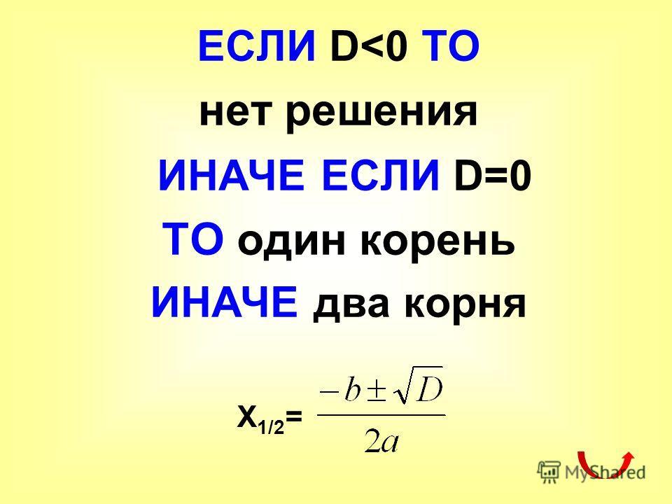 ЕСЛИ D