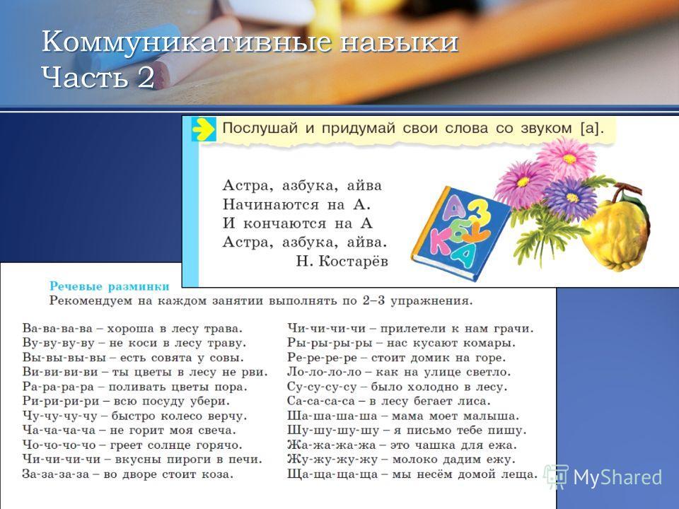 Коммуникативные навыки Часть 2