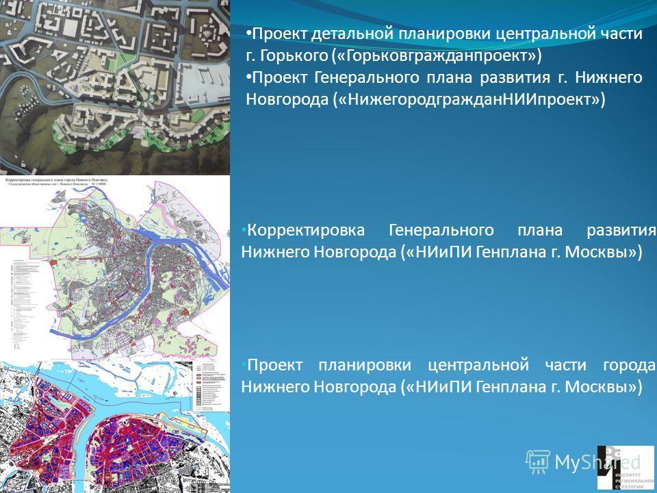 развития Нижнего Новгорода