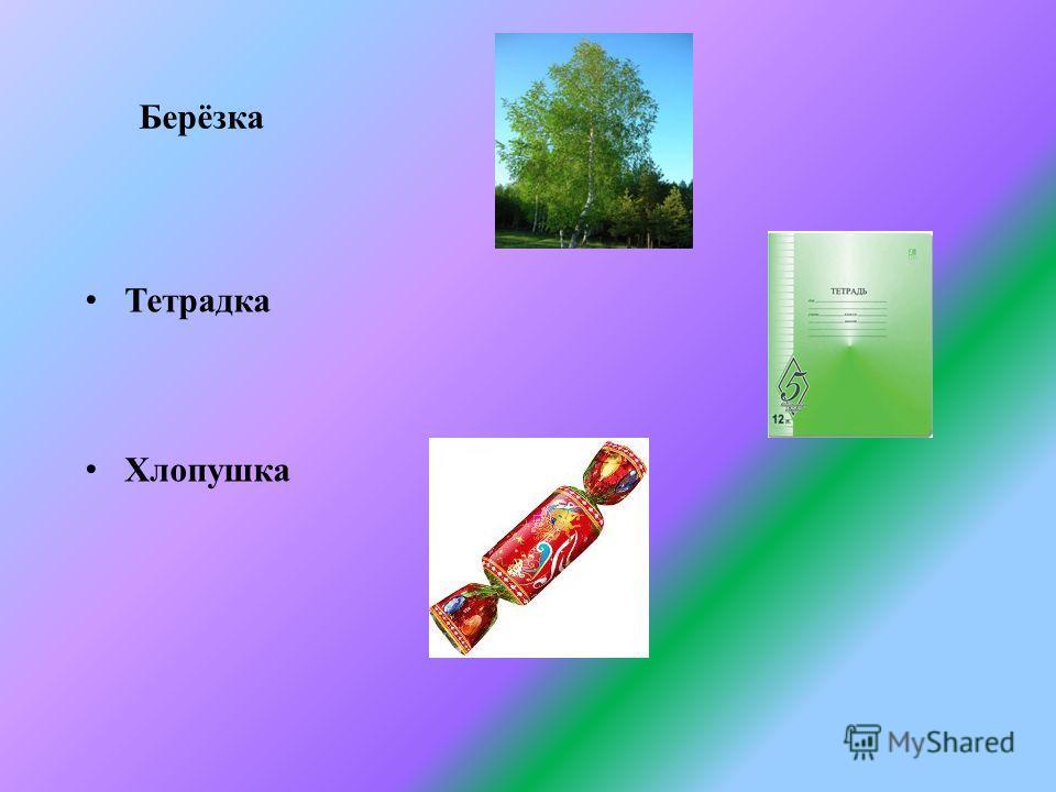 Берёзка Тетрадка Хлопушка