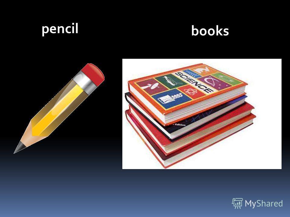 books pencil