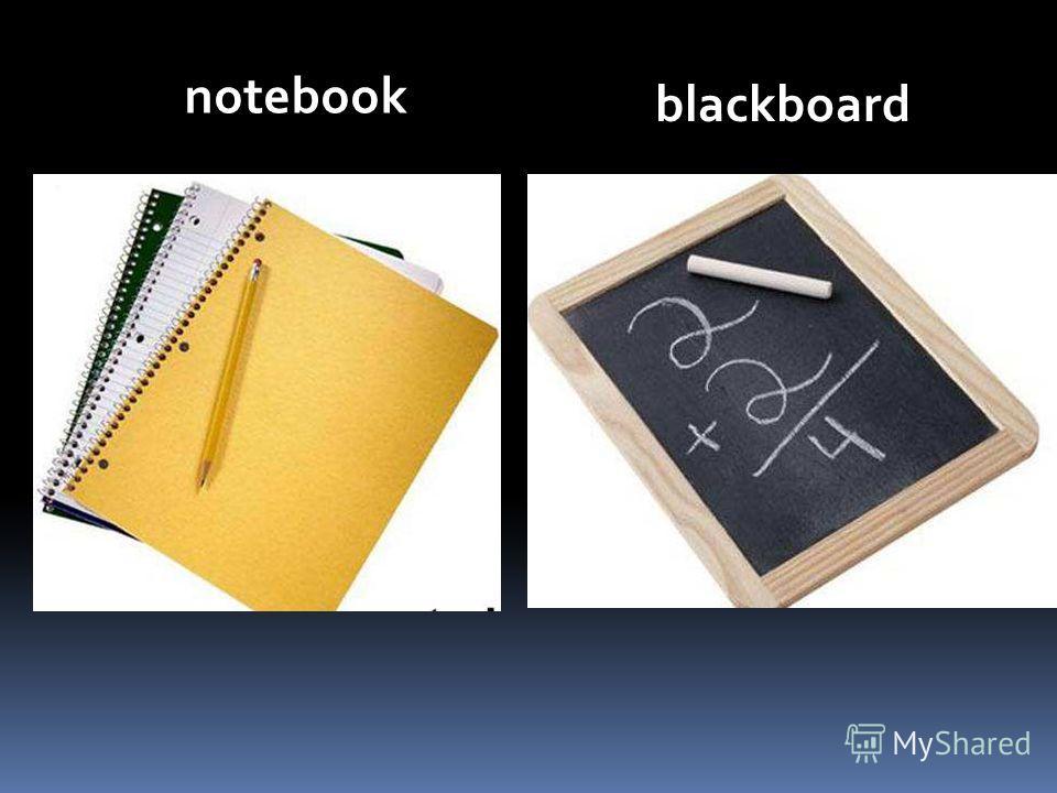 notebook blackboard