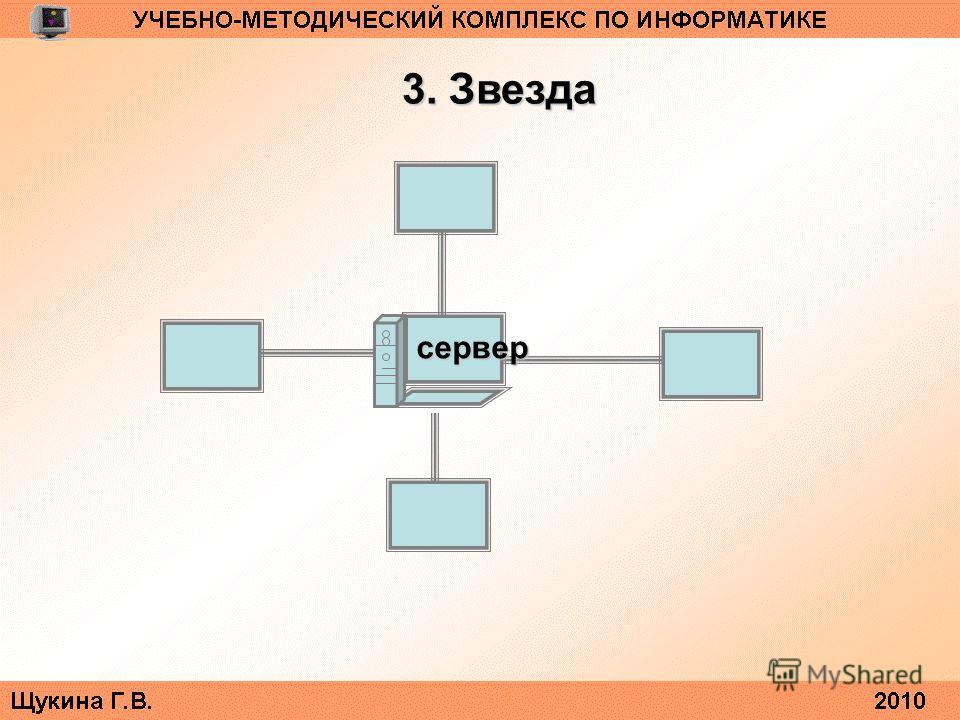 3. Звезда сервер
