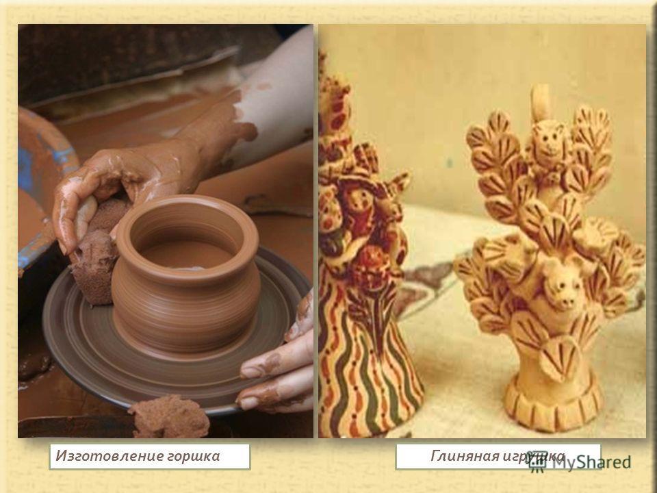 Глиняная игрушкаИзготовление горшка