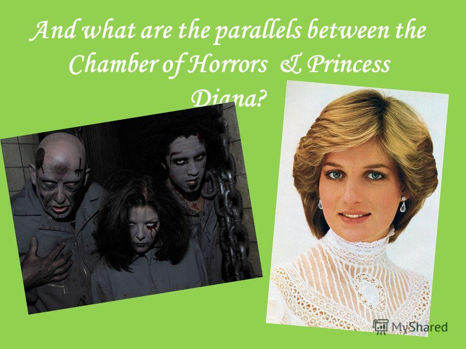 And what are the parallels between the Chamber of Horrors & Princess Diana?