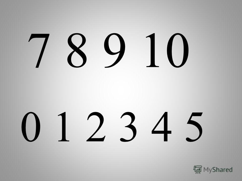 Назовите числа больше 6, меньше 6 6