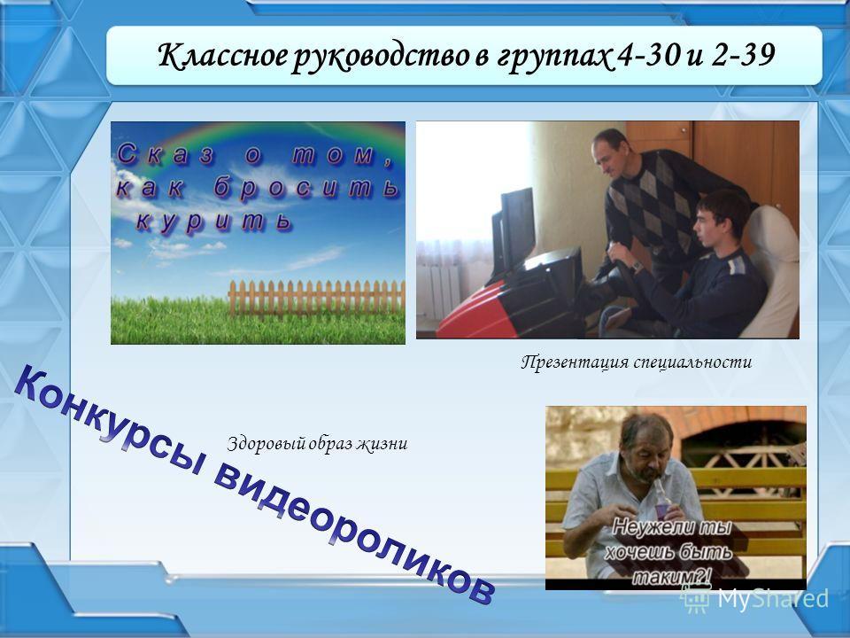 Здоровый образ жизни Презентация специальности