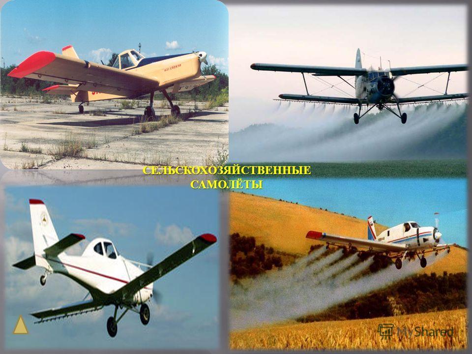 Гражданские самолеты Туристические самолеты Сельскохозяйствен ные самолеты Спортивные самолеты Транспортные самолеты
