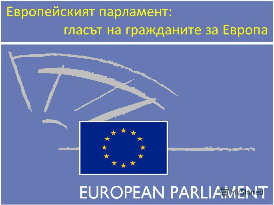 Европейският парламент: гласът на гражданите за Европа