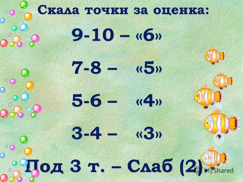 Система за оценяване: