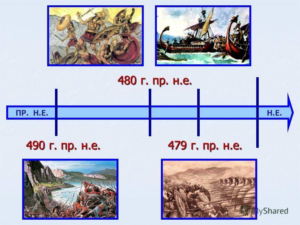 ПР. Н.Е. Н.Е. 490 г. пр. н.е. 480 г. пр. н.е. 479 г. пр. н.е.
