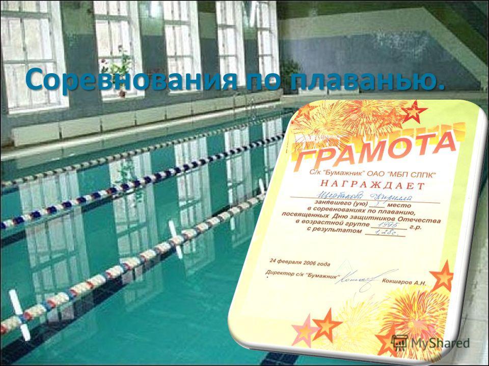 Соревнования по плаванью.