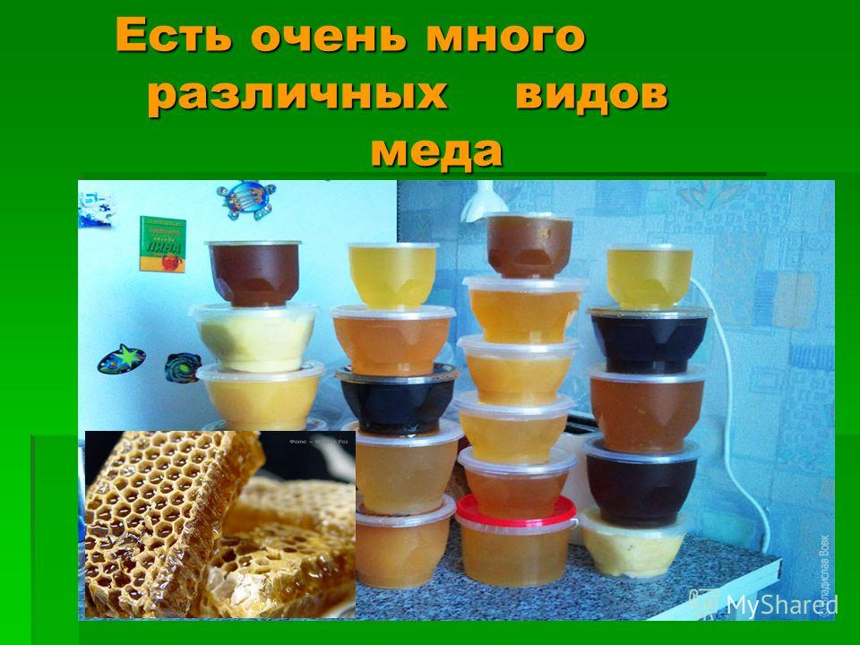 Есть очень много различных видов меда