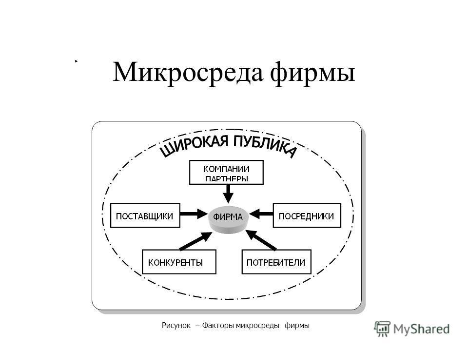 Микросреда фирмы Рисунок – Факторы микросреды фирмы