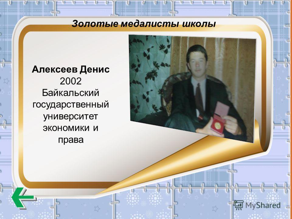 Алексеев Денис 2002 Байкальский государственный университет экономики и права Золотые медалисты школы