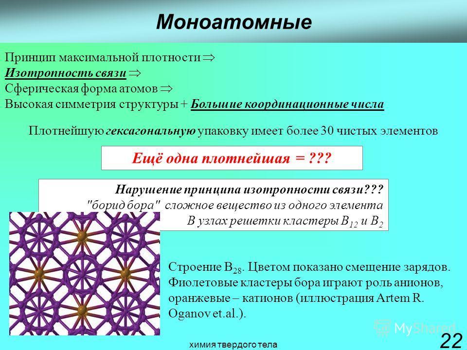 химия твердого тела 22 Нарушение принципа изотропности связи???