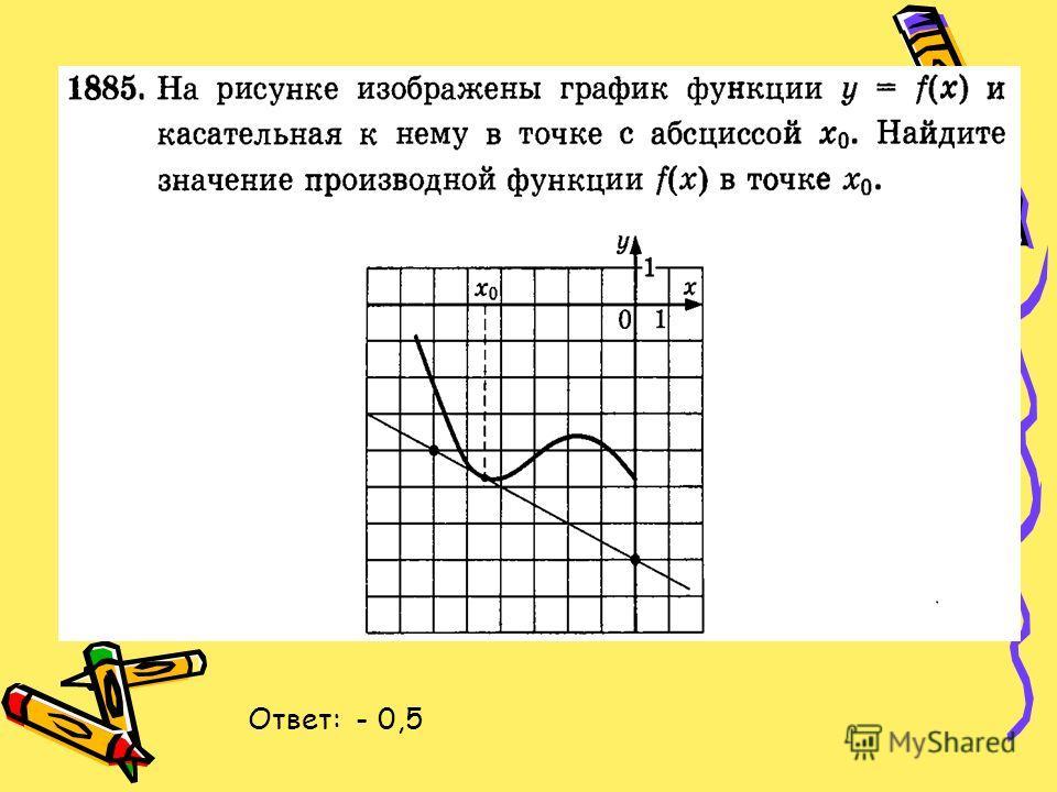 Ответ: - 0,5