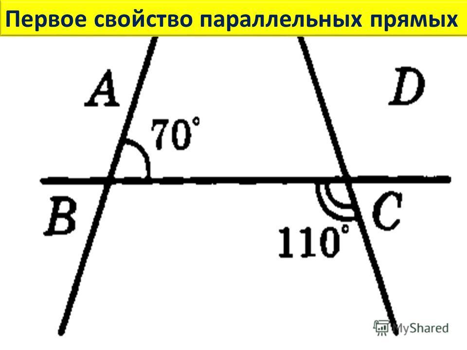 Первое свойство параллельных прямых