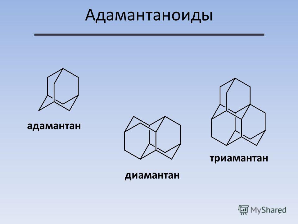Адамантаноиды 2 адамантан диамантан триамантан