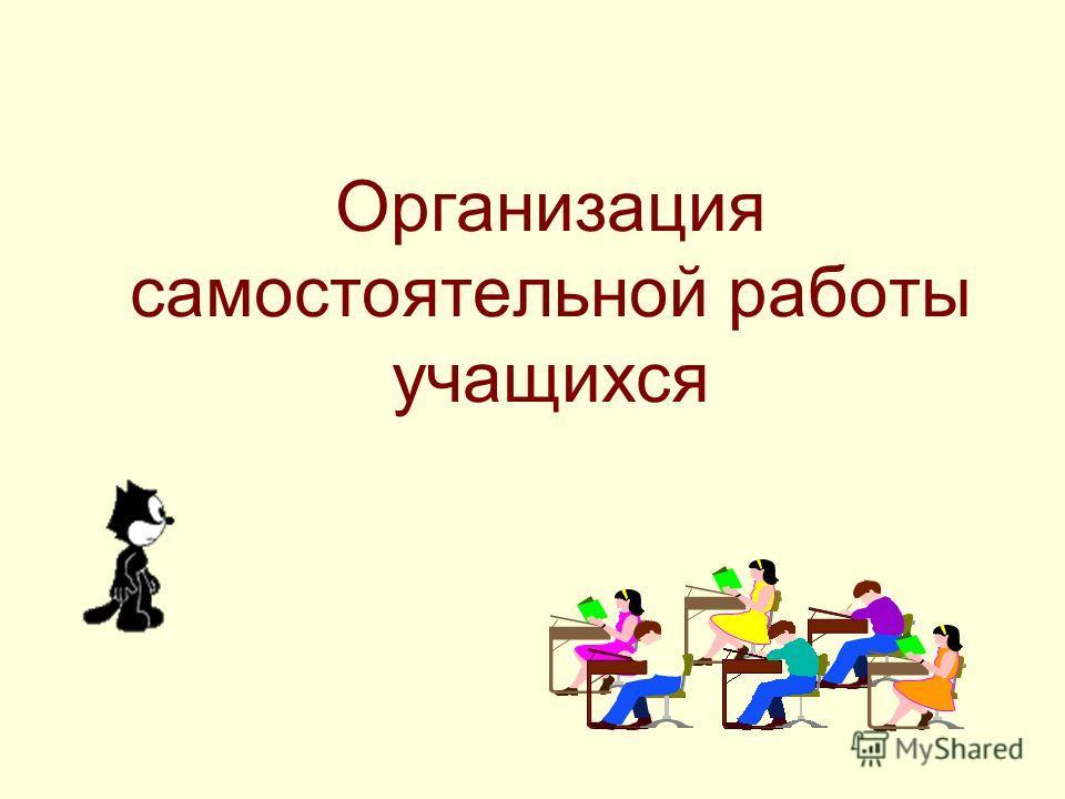 Организация самостоятельной работы учащихся